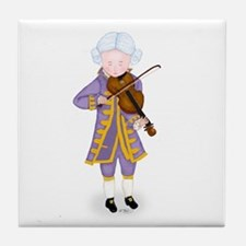 Practice Maintains Perfect Violin Tile Coaster