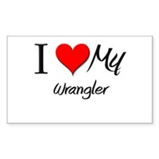 I Heart My Wrangler Rectangle Decal