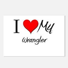 I Heart My Wrangler Postcards (Package of 8)