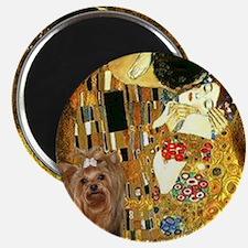 "Klimpt's ""The Kiss"" & Yorkie Magnet"