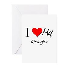 I Heart My Wrangler Greeting Cards (Pk of 10)