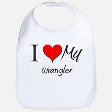 I Heart My Wrangler Bib