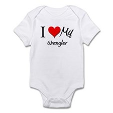 I Heart My Wrangler Infant Bodysuit