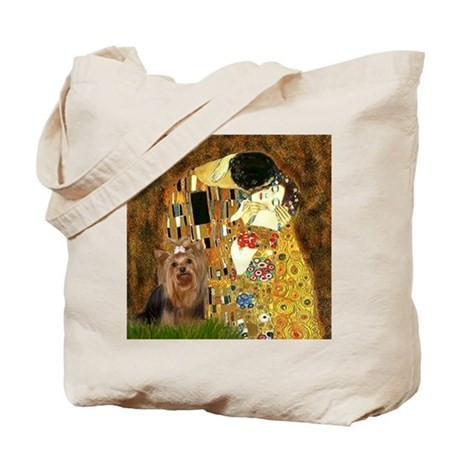 "Klimpt's ""The Kiss"" & Yorkie Tote Bag"