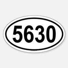 5630 Oval Decal