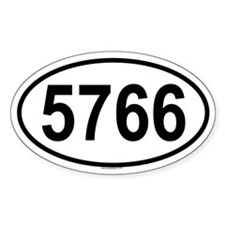 5766 Oval Decal