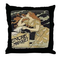 Folies Bergere Throw Pillow