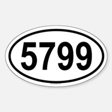 5799 Oval Decal