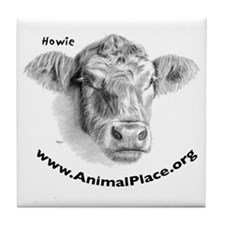 Howie the Cow, Animal Place Tile Coaster