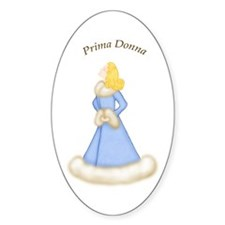 Blonde Prima Donna in Lt Blue Robe Oval Decal