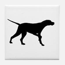 Pointer Dog On Point Tile Coaster