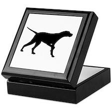 Pointer Dog On Point Keepsake Box
