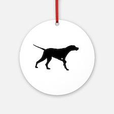 Pointer Dog On Point Ornament (Round)