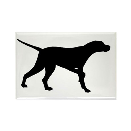 Pointer Dog On Point Rectangle Magnet