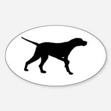 Pointer Dog On Point Sticker (Oval)