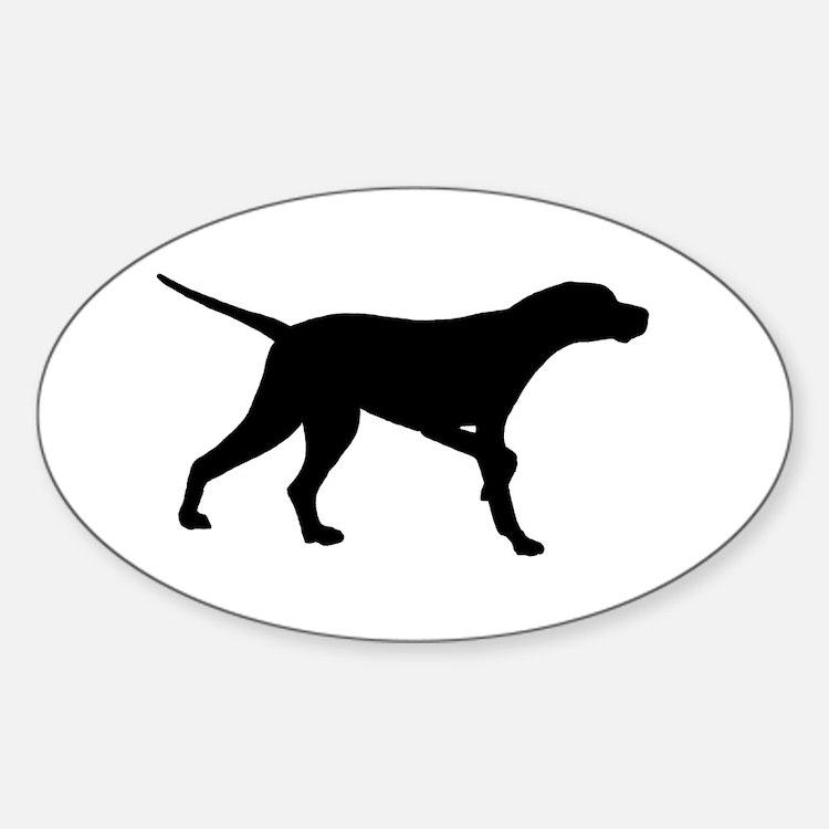 Pointer Dog On Point Sticker (Oval)