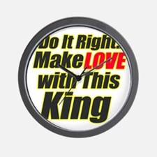 Cute My father is the king of kings Wall Clock