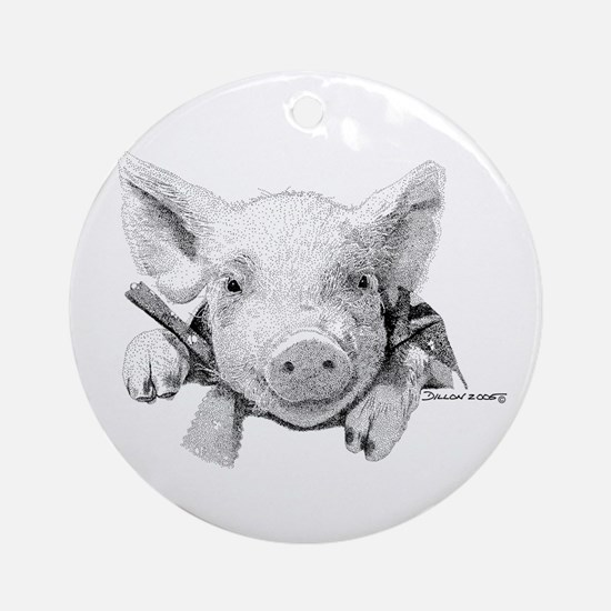 Baby Pig Ornament (Round)