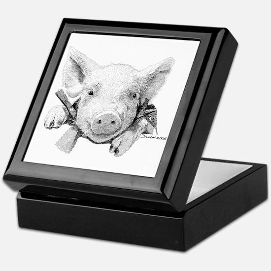 Baby Pig Keepsake Box