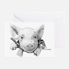 Baby Pig Greeting Cards (Pk of 20)