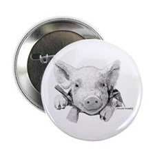 """Baby Pig 2.25"""" Button"""