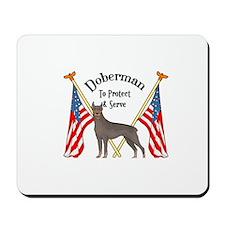 Doberman To Protect And Serve Mousepad
