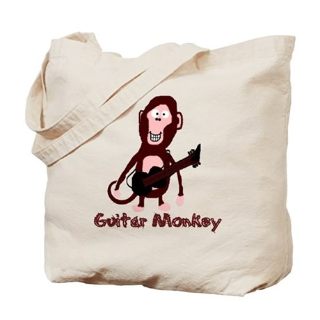 guitar monkey Tote Bag