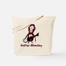 guitar monkey Tote Bag