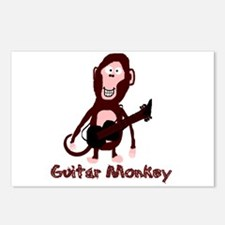 guitar monkey Postcards (Package of 8)