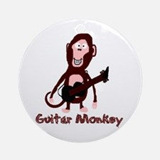 guitar monkey Ornament (Round)