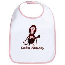 guitar monkey Bib
