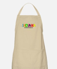 Colorful Indiana BBQ Apron