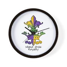 Mardi Gras Royalty Wall Clock