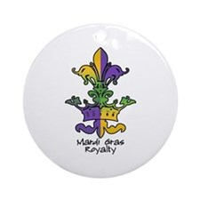Mardi Gras Royalty Ornament (Round)