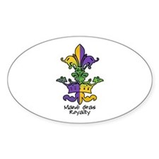 Mardi Gras Royalty Oval Decal
