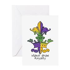 Mardi Gras Royalty Greeting Card