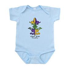 Mardi Gras Royalty Infant Bodysuit