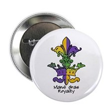 """Mardi Gras Royalty 2.25"""" Button (10 pack)"""