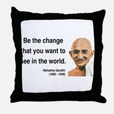 Gandhi 1 Throw Pillow