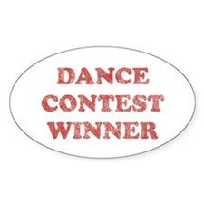 Vintage Dance Contest Winner Oval Decal