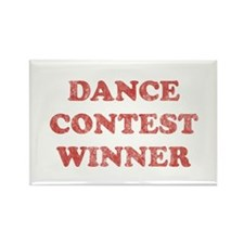 Vintage Dance Contest Winner Rectangle Magnet