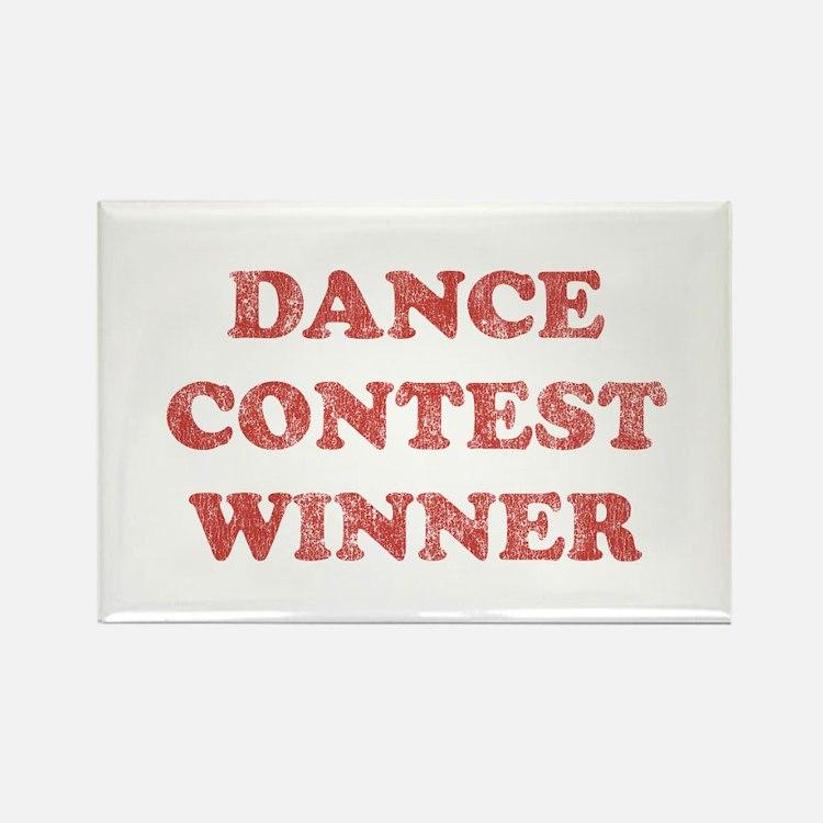 Vintage Dance Contest Winner Rectangle Magnet