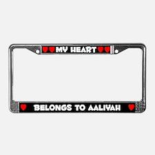 My Heart: Aaliyah (#001) License Plate Frame