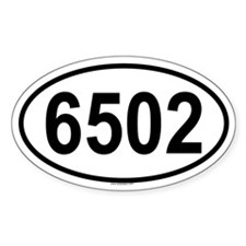 6502 Oval Decal