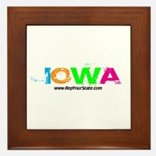 Colorful Iowa Framed Tile