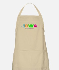 Colorful Iowa BBQ Apron