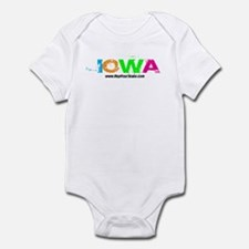 Colorful Iowa Infant Bodysuit