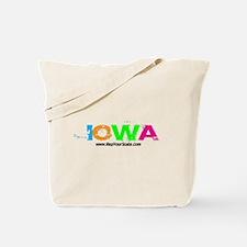 Colorful Iowa Tote Bag