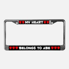 My Heart: Abe (#001) License Plate Frame