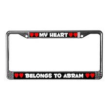 My Heart: Abram (#001) License Plate Frame